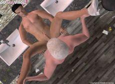 Adult game 3D GayVilla 2 with gay 3D porn