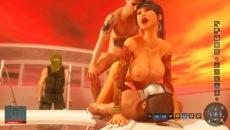 Huge boobs breast cumshots bukkake after gangsters party